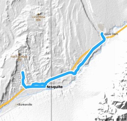 Sun City Bike Club Hard Ride 3 Out and Back to Beaverdam, Arizona
