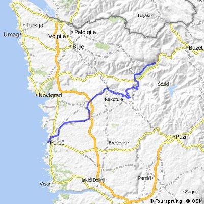 La tappa conclusiva della Parenzana: da Levade a Parenzo