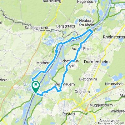 Plittersdorf, Seltz, zur Fähre in Neuburg