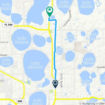 Cycling routes and bike maps in and around Winter Haven ...