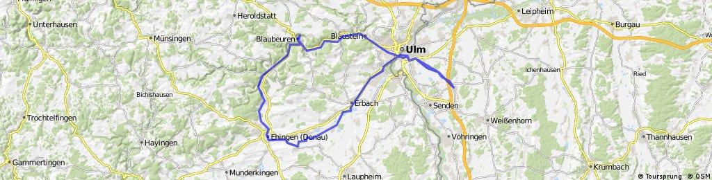 Neu-Ulm-Ehingen-Blaubeuren-Ulm