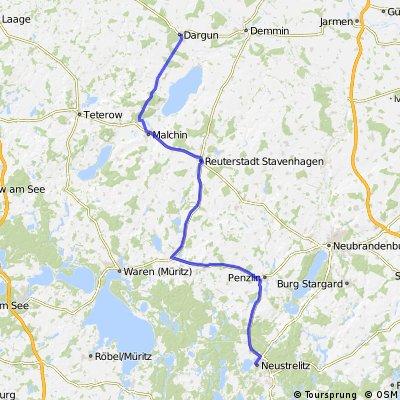 Zweite Etappe Rügen - Oranienburg