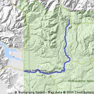 West Yellowstone to Mammoth
