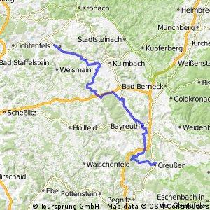 Mainradtour 2013 Erste Etappe