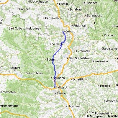 Itzgrund Radweg Bamberg Coburg