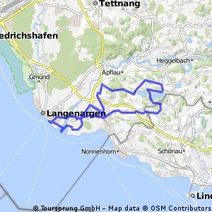Bodenseeroute 6:  Langenargen - Degersee - Schleinsee - Langenargen(28,08km)
