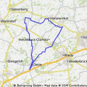 Oelde-Beelen-Harsewinkel-Marienfeld-Herzebrock-Oelde