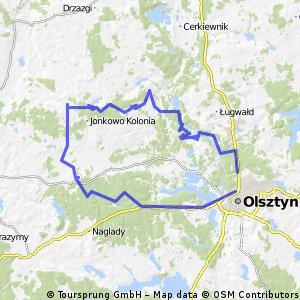 Olsztyn-Kajny-Pupki-Wrzesina-Olsztyn
