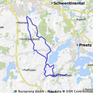 Kühren - Honigsee - Rönne - Postfeld - Fischkroog - Kühren