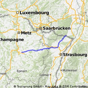 Wissembourg nach St. Nicolas-de-Port