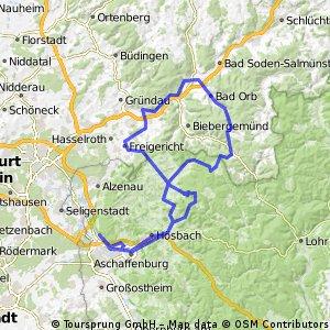 Aschaffenburg - Spessart - Wächtersbach - Kahlgrund - Aschaffenburg