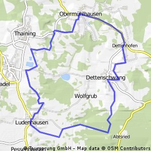 Route Ludenhausen Umgebung