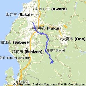 Nagoya-Fukui by 407 road -2