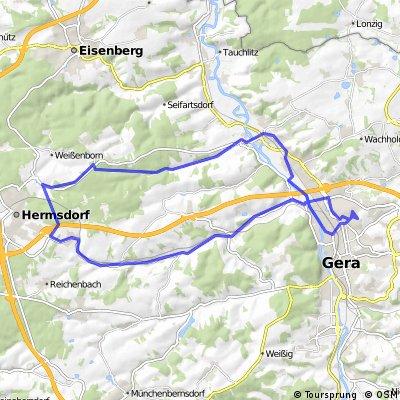 Gera-Bad Klosterlausnitz-Gera 23.3.2015