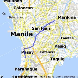 Cycling routes and bike maps in and around Makati City Bikemap