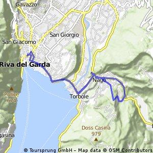 Riva del Garda-Torbole-Nago-Val del Diaol-Nago-Torbole-Riva del Garda