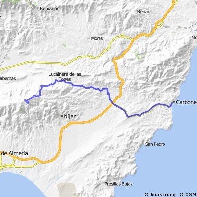 Carboneras-Venta del Pobre-Lucainena-Turrilla-Colativid