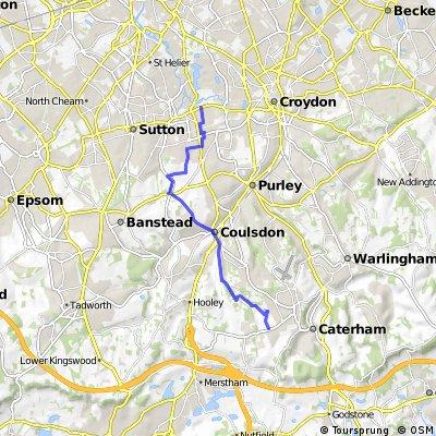 Beddington to Chaldon