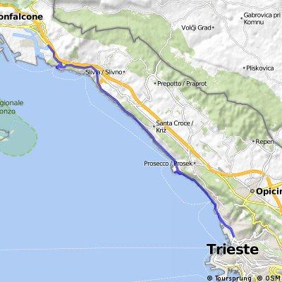 La Costiera di Trieste, Il Castello di Miramare, Sistiana, il Castello di Duino, le Risorgive del Timavo
