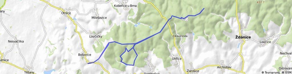 Trasa Bošovické šlapky - pěší 32km