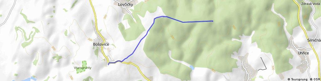 Trasa Bošovické šlapky - pěší 10 km