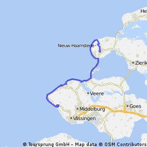 Mountainbike Route Kustmarathon 2014