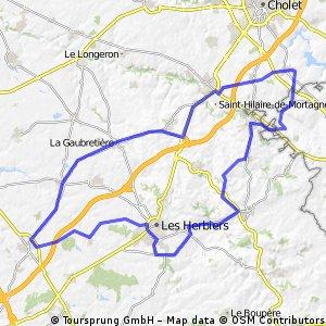 Les Herbiers, St Fulgent,Bazoges,La Verrie,Le Puy.
