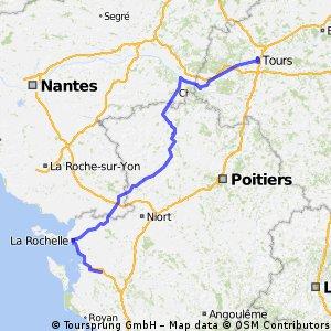 Bordeaux Tours - La Rochelle Velospiste