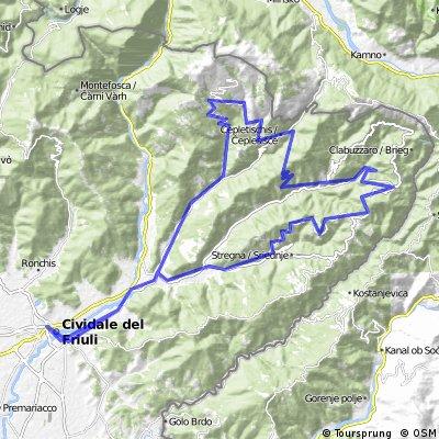 Cividale - Montemaggiore - Tribil Superiore
