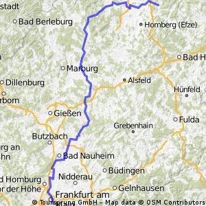 Melsungen - Bad Wildungen - Hungen - Ffm