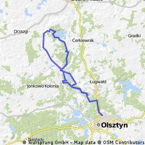 Olsztyn-Różynka-Jez.Limajno-Olsztyn