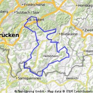 Bliesgau Biosphären Tour - 75 km Strecke des Radsportclub St. Ingbert e.V.