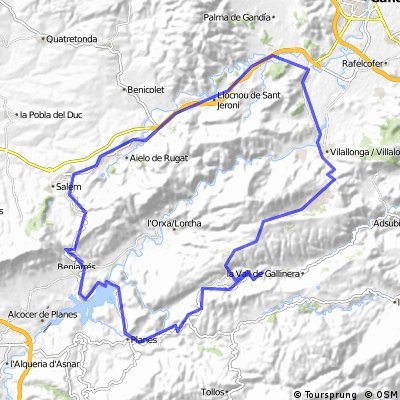 GARRIGA - BeniarresVillalonga74km
