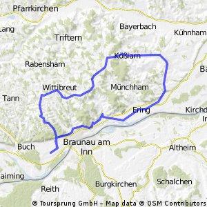 Simbach - Wittibreut - Kößlarn - Rotthalmünster - Malching - Simbach