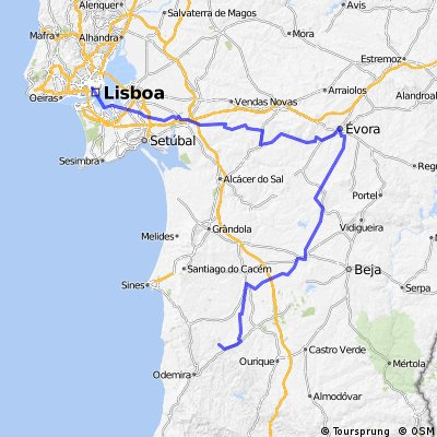 Lisboa - Évora - Tamera
