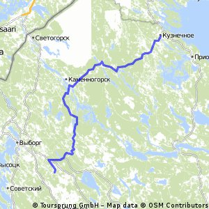 Kuznechnoe - Gavrilovo all route