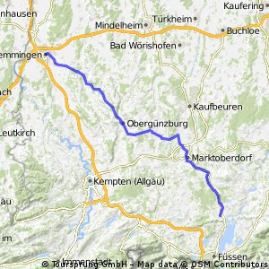 Map Of Germany Memmingen.Cycling Routes And Bike Maps In And Around Memmingen Bikemap