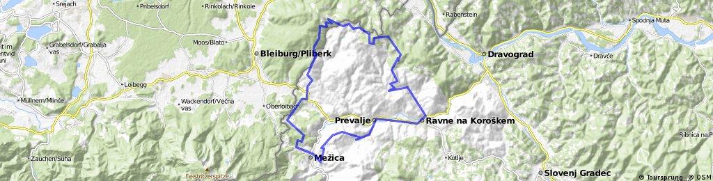 Leše-Mežica-Holmec-Belšak-Strojna-Ravne-Leše
