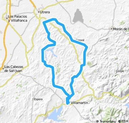 Villamartin, Embalse Tajo El Aguila, Los Molares, El Coronil, Montellano y Villamartin.