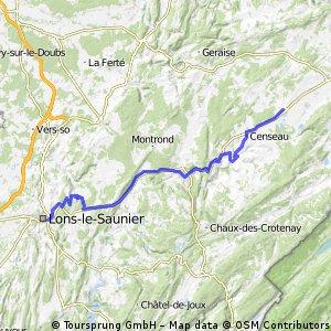 Frasne - Lons Le Saunier via Champagnole