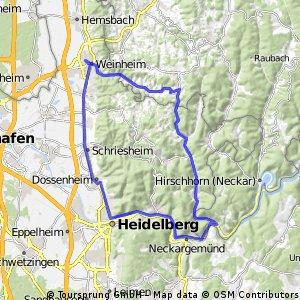 Abtsteinach Heidelberg Weinheim