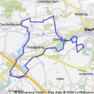 Amper-Tour mit Gada/Bibereck/Günding und zurück