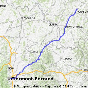 Montceau-les-Mines - Clermont-Ferrand
