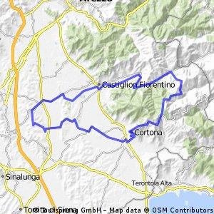 Bergen achter Cortona 81 km