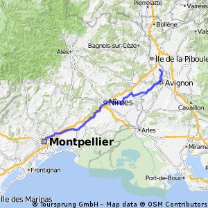 montpellier to avignon