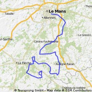4.Abbaye de l'Epau - Le Lude (6 giri circuito finale)