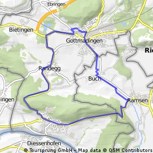 Gottmadingen - Buch - Ramsen - Gailingen - Randegg - Gottmadingen