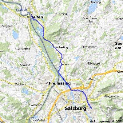 Salzburg bis Oberndorf bei Salzburg