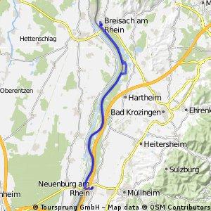 Rheinradweg von Neuenburg bis Breisach