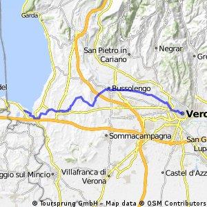 Peschiera - Verona - Tagestour Hin- und Rück